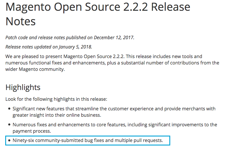 magento 2.2.2 update release notes