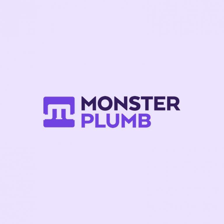 monster plumb logo