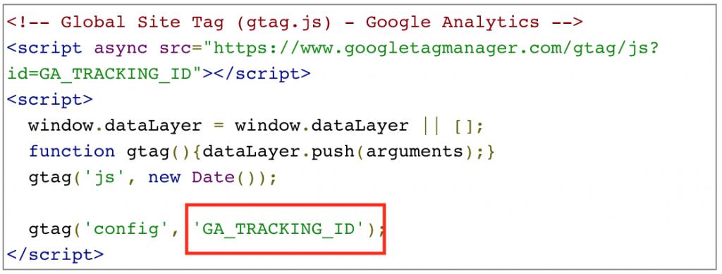 ga-code-snippet